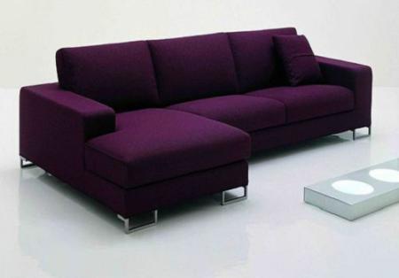 Sofa Chữ L Màu Tím